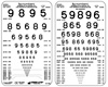 LEA Number Pocket Size Near Vision Card